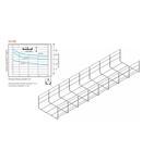 Jgheab metallic tip sârmă H100 - TIP SR 500X100