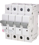 ETIMAT P10 Intrerupatoare automate miniatura 10kA ETIMAT P10 3p+N B63