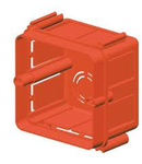 SQUARE FLUSH-MOUNTING BOXES - 2 moduleSECTIONAL - HALOGEN FREE - 70x70x50