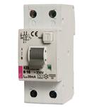 KZS-2M2p Intrerupatoare de curent rezidual cu protecție la supracurent, 2 modules, A type KZS-2M2p A C16/0.03