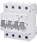 KZS-4M 3p Intrerupatoare de curent rezidual cu protecție la supracurent, 4 module, tip A și AC KZS-4M 3p A B20/0.1