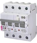 KZS-4M 3p+N Intrerupatoare de curent rezidual cu protecție la supracurent, 4 module, tip A și AC KZS-4M 3p+N AC B25/0.03