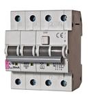 KZS-4M 3p+N Intrerupatoare de curent rezidual cu protecție la supracurent, 4 module, tip A și AC KZS-4M 3p+N A B6/0.5