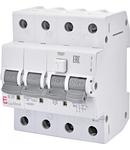 KZS-4M 3p Intrerupatoare de curent rezidual cu protecție la supracurent, 4 module, tip A și AC KZS-4M 3p A B25/0.03