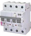 KZS-4M 3p+N Intrerupatoare de curent rezidual cu protecție la supracurent, 4 module, tip A și AC KZS-4M 3p+N A C10/0.03