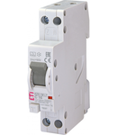 KZS-1M Intrerupatoare de curent rezidual cu protecție la supracurent, 1 module, A and AC type KZS-1M-LT 1p+N A C16/0.03 6kA