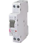 KZS-1M Intrerupatoare de curent rezidual cu protecție la supracurent, 1 module, A and AC type KZS-1M-LT 1p+N A C25/0.03 6kA