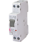 KZS-1M Intrerupatoare de curent rezidual cu protecție la supracurent, 1 module, A and AC type KZS-1M 1p+N A B20/0.01 6kA