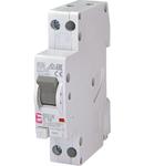 KZS-1M Intrerupatoare de curent rezidual cu protecție la supracurent, 1 module, A and AC type KZS-1M 1p+N A C16/0.1 6kA