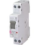 KZS-1M Intrerupatoare de curent rezidual cu protecție la supracurent, 1 module, A and AC type KZS-1M-SUP 1p+N A B20/0.01