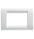 Placa ornament Virna - tehnopolimer gloss finish - 3 module- CLOUD WHITE - SYSTEM