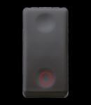 Intrerupator cu revenire 1P 250V ac - NC 10A - NEUTRAL - SYMBOL CIRCLE - 1 MODULE - SYSTEM BLACK
