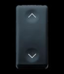 Intrerupator cu revenire 1P 250V ac - NO+NO 10A - WITH INTERLOCL - SYMBOL UP AND DOWN - 1 MODULE - SYSTEM BLACK