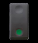 Intrerupator cu revenire 1P 250V ac - NO 10A - AUXILIARES CONTACT NC - START - SYMBOL GREEN - 1 MODULE - SYSTEM BLACK