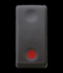 Intrerupator cu revenire 1P 250V ac - NO 10A - AUXILIARES CONTACT NC - STOP - SYMBOL RED - 1 MODULE - SYSTEM BLACK