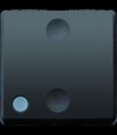 Intrerupator cu revenire 1P 250V ac - NO 10A ILLUMINABLE - 2 MODULES - SYSTEM BLACK