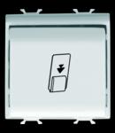 UNIVERSAL BADGE SWITCH - 1P NA 16AX - ILLUMINABLE - 2 MODULES - WHITE - CHORUS