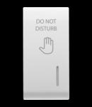 Placa pentru buton - WITH DIFFUSER - DND - 1 MODULE - WHITE - CHORUS