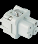 Contector industrial Mama - 21X21 - 3P + E 10A 250V / 4kV / 3 - ȘURUB CONNECTION - GRI
