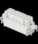 Contector industrial Mama - 66X16 - 16P + E 16A 250V / 4kV / 3 - CRIMP CONNECTION - GRI