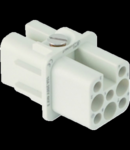 Insert pentru conector Mama - 21X21 - 7P + E 10A 250V / 4kV / 3 - CRIMP CONNECTION - GRI