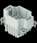 Contector industrial Tata - 44X27 - 24P + E 10A 250V / 4kV / 3 - CRIMP CONNECTION - GRI