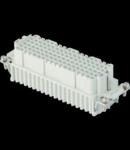 Insert pentru conector Mama - 104X27 - 108P + E 10A 250V / 4kV / 3 - CRIMP CONNECTION - GRI