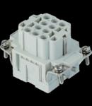 Contector industrial Mama - 44X27 - 10P + E 16A 500V / 6kV / 3 - CRIMP CONNECTION - GRI