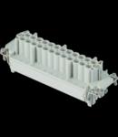 Insert pentru conector Mama - 104X27 - 10P + 2P (AUX) + E 16A 830V / 8kV / 3 - CRIMP CONNECTION - GRI