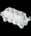 Contector industrial Mama - 77X27 - 6P + E 35A 830V / 6kV / 3 - ȘURUB CONNECTION - GRI