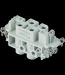 Contector industrial Mama - 77X27 - 4P + E 80A 830V / 8kV / 3 - ȘURUB CONNECTION - GRI