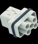 Contector industrial Tata - 32X13 - 4P + E 40A 400 / 690V / 4kV / 3 - CRIMP CONNECTION - GRI