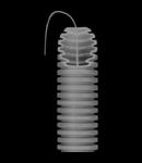 Tub flexibil cu rezistenta Medie - cu autostingere - diametru25MM - cu sonda tragatoare - gri închis