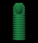 Tub flexibil cu rezistenta Medie - cu autostingere - diametru32MM - fara sonda tragatoare - VERDE