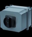 Selector rotativ - Montaj aparent - COMMAND - ATEX - carcasa aluminiu - BLACK KNOB - 4P 16A - IP65