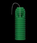 Tub flexibil cu rezistenta Medie - cu autostingere - diametru50MM - cu sonda tragatoare - VERDE
