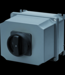 Selector rotativ - Montaj aparent - COMMAND - ATEX - carcasa aluminiu - BLACK KNOB - 4P 100A - IP65