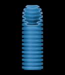 Tub flexibil cu rezistenta Medie - cu autostingere - diametru40MM - fara sonda tragatoare - BLUE