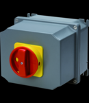 Selector rotativ - Montaj aparent - Emergenta VERSION - ATEX - carcasa aluminiu - RED KNOB - 3P 100A - IP65