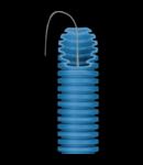 Tub flexibil cu rezistenta Medie - cu autostingere - diametru50MM - cu sonda tragatoare - BLUE