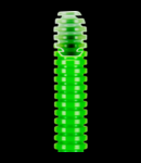 Tub flexibil cu rezistenta Medie FK15 - diametru16mm - fara sonda tragatoare - VERDE