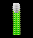 Tub flexibil cu rezistenta Medie Light FKCO - DIAMETRU 25MM - VERDE