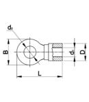 Papuc inelar neizolat,cupru electrolitic stanat SZ1.5-3 1,5mm2, M3, (d1=2,3mm, d2=3,7mm)