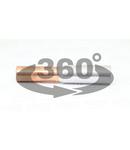 Mufa neizolata cupru-aluminiu (Cu-Al) RT95/150 95/150mm2, (d1=13,5mm, d2=16,5mm)