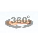 Papuc inelar neizolat, prelungit, din teava de cupru SZ-CL35-10 35mm2, M10, (d1=8,5mm, d2=10,5mm)