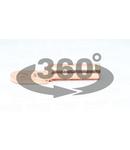 Papuc inelar neizolat, prelungit, din teava de cupru SZ-CL185 185mm2, M16, (d1=19mm, d2=16,5mm)