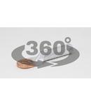 Papuc inelar neizolat cupru-aluminiu RA25-8 25mm2, M8, (d1=7,5mm, d2=8,5mm)