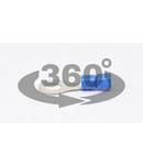 Papuc inelar izolat, cupru electrolitic stanat, albastru KSZ10 2,5mm2, M10, (d1=2,3mm, d2=10,5mm), PVC