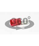 Papuc inelar izolat, cupru electrolitic stanat, rosu PSZ35-10 35mm2, M10, (d1=9,4mm, d2=10,5mm), PVC