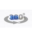Papuc tip furca, izolat, cupru electrolitic stanat, albastru KV3 2,5mm2, M3, (d1=2,3mm, d2=3,6mm), PVC